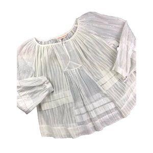 Rebecca Taylor //Cotton Peasant Top